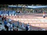 Первенство России 1996-97 в Челябинске 21 июня финал бега на 100 метров с барьерами